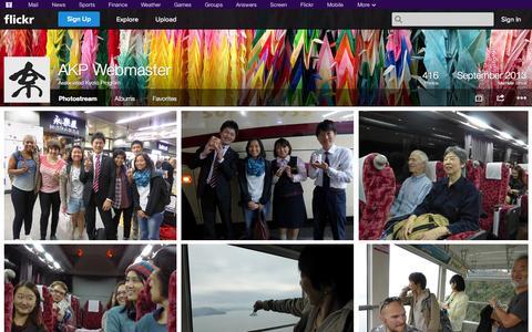 Screenshot of Flickr Page flickr.com - Flickr: Associated Kyoto Program's Photostream - captured Oct. 29, 2014