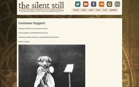 Screenshot of Support Page thesilentstill.com - Customer Support - The Silent Still - captured Jan. 12, 2016