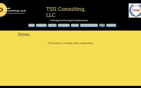 Screenshot of Press Page tssiconsulting.com - Home   TSSI Consulting, LLC   News - captured Oct. 24, 2017