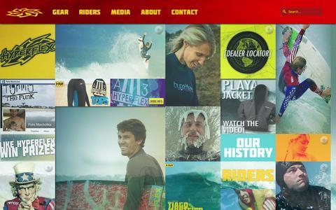 Screenshot of Press Page hyperflexusa.com - Media Hyperflex Wetsuits - captured Oct. 3, 2014
