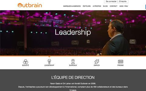 Screenshot of Team Page outbrain.com - Fondateurs et Leadership | Outbrain.com - captured Oct. 29, 2017
