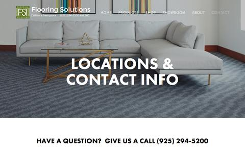 Screenshot of Locations Page flooring-solutions.com - Locations & Contact Info — Flooring Solutions - captured Oct. 14, 2017