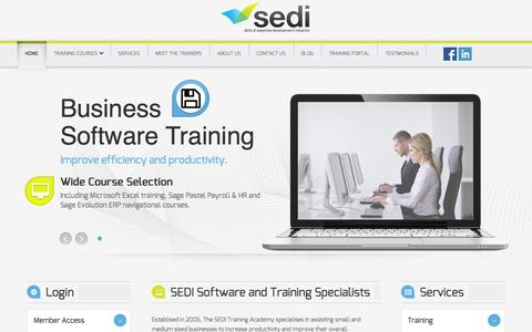 SEDI Training Academy - Software & Training Specialists - Home Page
