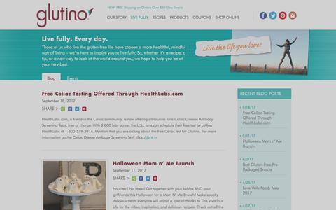 Screenshot of Blog glutino.com - Blog | Glutino - captured Oct. 6, 2017