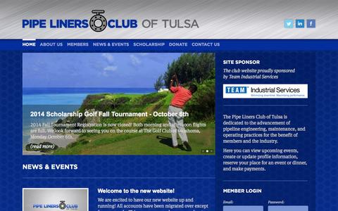 Screenshot of Signup Page tulsapipeliners.org - Pipe Liners Club of Tulsa - captured Oct. 7, 2014