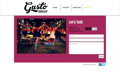 Screenshot of Contact Page gustogroupllc.com - Contact - captured May 25, 2017