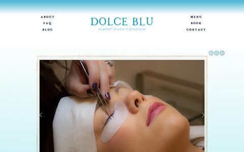 Screenshot of Home Page dolcebluaustin.com - Dolce Blu Austin - captured Nov. 14, 2018