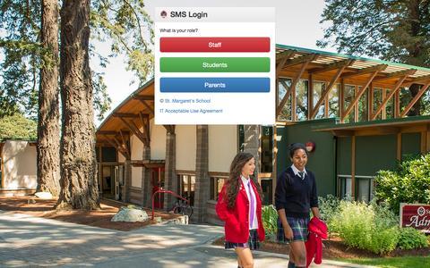 Screenshot of Login Page stmarg.ca - St. Margaret's School - captured Oct. 6, 2014