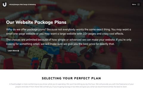 Screenshot of Pricing Page hitusupdesigns.com - Recommended Website Options   HitUsUpDesigns - captured Nov. 10, 2018