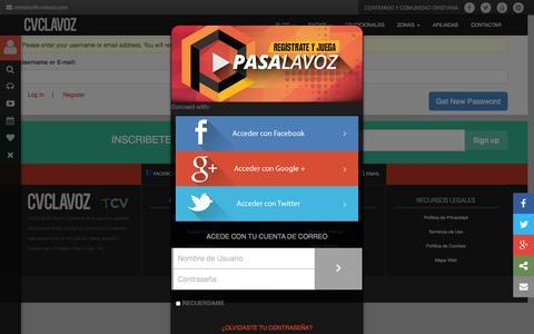 Screenshot of Login Page cvclavoz.com - Log In | CVCLAVOZ - captured Sept. 18, 2014