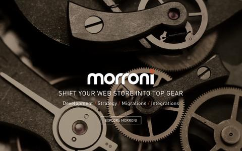 Screenshot of Home Page morroni.com - Morroni Technologies - E-Commerce Design & Development - captured Feb. 2, 2016