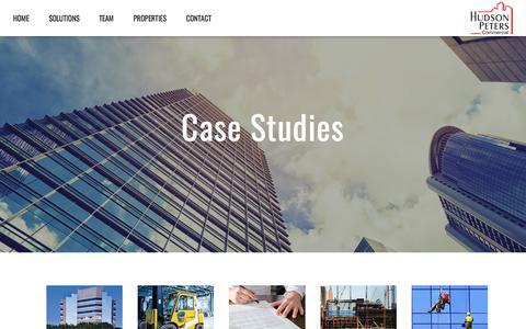 Screenshot of Case Studies Page hudsonpeters.com - Case Studies | Commercial Real Estate Services - captured Sept. 17, 2017