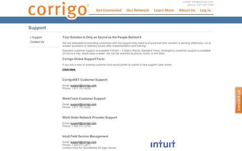 Support | Corrigo