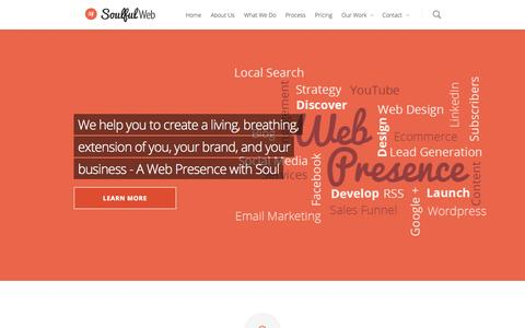 Screenshot of Pricing Page soulfulweb.com - Soulful Web - Mobile Friendly Web Design NZ - captured Oct. 8, 2014
