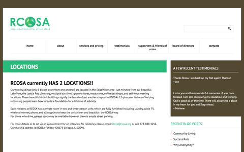 Screenshot of Locations Page rcosa.org - Locations   |  RCOSA - captured Oct. 26, 2014