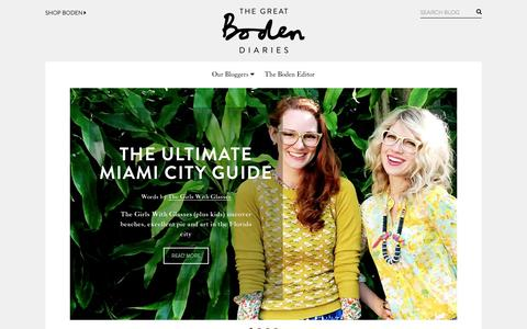 Screenshot of Blog boden.co.uk - The Boden weekly life and style blog | The Great Boden Diaries | Boden - captured Oct. 29, 2014