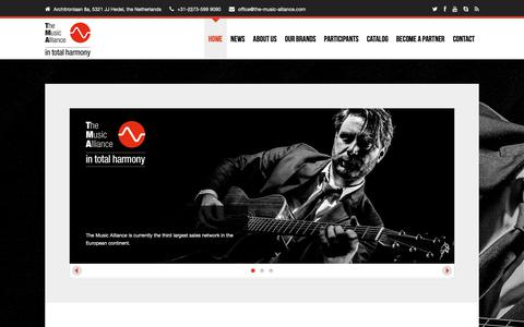 Screenshot of Home Page the-music-alliance.com - The Music Alliance - in total harmony - captured Oct. 24, 2018