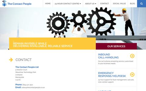 Screenshot of Contact Page thecontactpeople.co.uk - Contact - The Contact People Ltd : The Contact People Ltd - captured Oct. 19, 2018