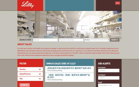 Screenshot of Jobs Page lilly.com - Jinhua Sales Jobs at Lilly - captured Aug. 7, 2017