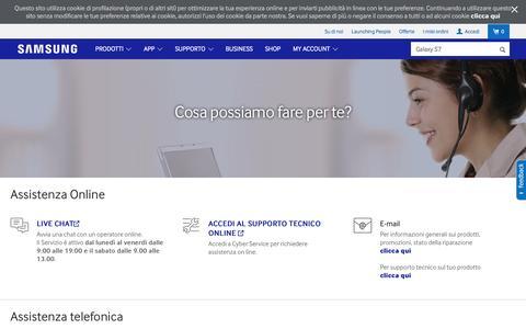 Screenshot of Contact Page samsung.com - Helpline & Contact | Samsung IT - captured April 8, 2016