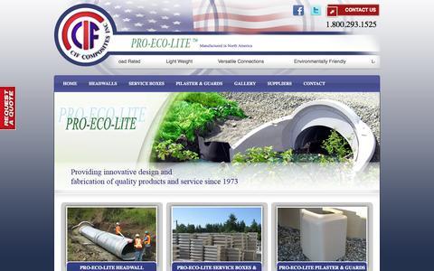 Screenshot of Home Page cifcomposites.com - CIF Composites | Pro-Eco-Lite - captured Oct. 1, 2014