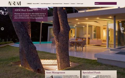 Screenshot of Home Page arm.com.ng - Asset & Resource Management Company (ARM) - Home - captured Feb. 4, 2016