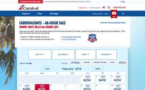 Deals | Carnival Cruise Line