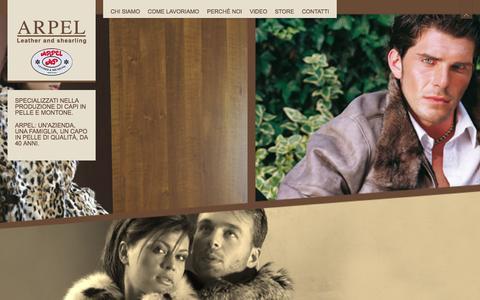 Screenshot of Home Page arpel.it - Arpel - Artigiana Pelli - Artigiana Pelli srl - captured Oct. 4, 2014