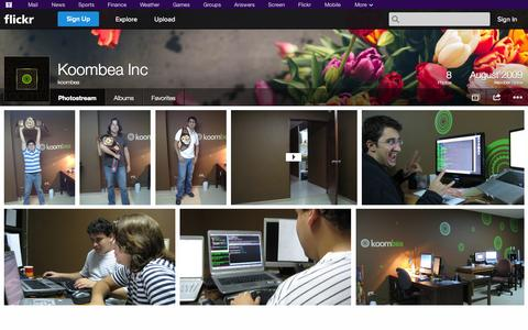 Screenshot of Flickr Page flickr.com - Flickr: koombea's Photostream - captured Oct. 23, 2014