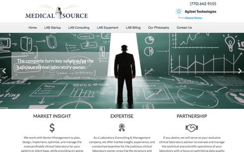 Screenshot of Home Page consultants-lab.com - Medical Source, Laboratory Startup Consultants, Clinical Laboratory Consultants, Market Insight and Expertise - captured Oct. 4, 2017