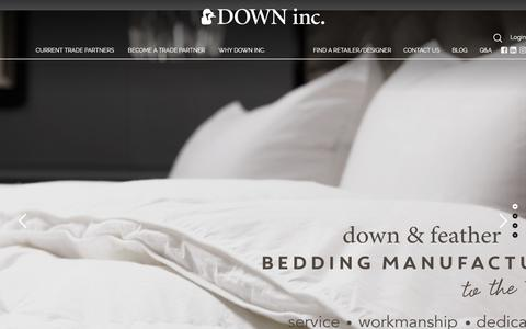 Screenshot of Home Page downinc.com - Down & Feather Bedding Manufacturer | DOWN inc. - captured June 5, 2017