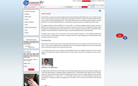 Screenshot of About Page connect9.in - Jewellery Stores Online,Laptops and Tablets,The Best Tablet - captured Oct. 6, 2014