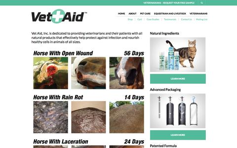 Screenshot of Case Studies Page vetaidproducts.com - Case Studies | Vet-aid - captured June 12, 2017