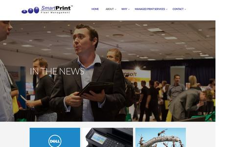 Screenshot of Press Page smartprint.net.au - SmartPrint News - Managed Print Services MPS Management Australia - captured Nov. 19, 2016