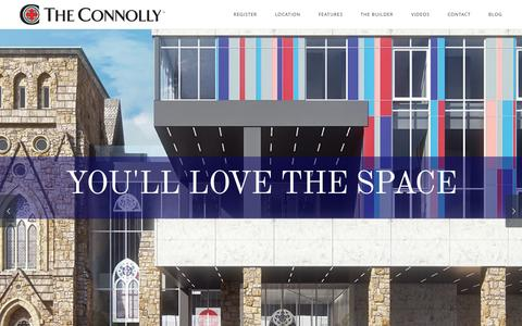 Screenshot of Home Page theconnolly.ca - The Connolly   The Hottest New Hamilton Condo - captured Sept. 2, 2015