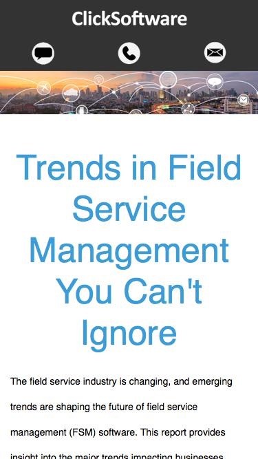field service management software for the future | ClickSoftware