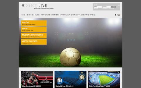 Screenshot of Home Page existlive.com - Home page - captured Oct. 3, 2014
