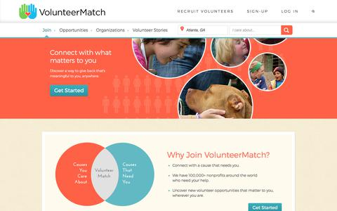 Screenshot of Signup Page volunteermatch.org - VolunteerMatch - Find Volunteer Opportunities - captured Oct. 5, 2017
