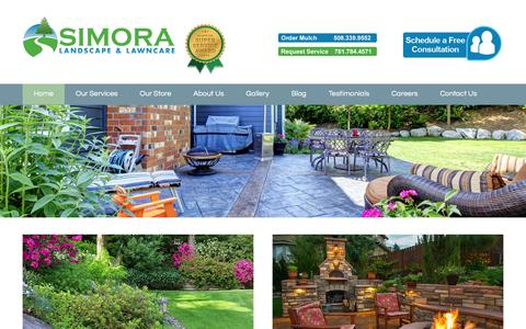 Screenshot of Home Page simora.com - Home - Simora Landscape & Lawncare - captured Feb. 17, 2016
