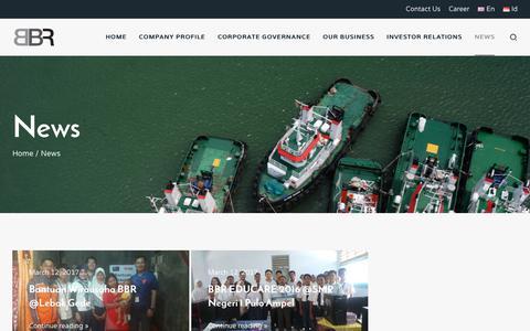 Screenshot of Press Page bbr.co.id - News – Bina Buana Raya - captured July 10, 2017