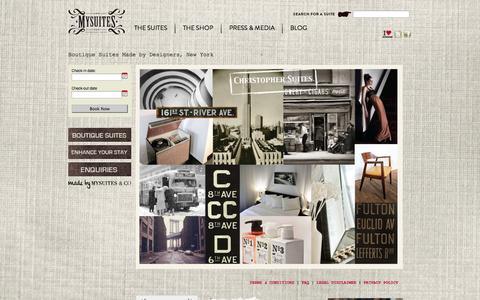 Screenshot of Home Page mysuites.net - MySuites » Home - captured Oct. 6, 2014