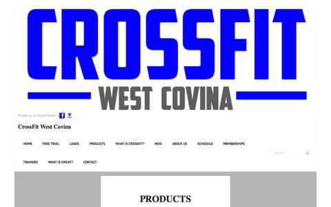 Screenshot of Products Page cfwestcovina.com - Products – CrossFit West Covina - captured Feb. 3, 2018