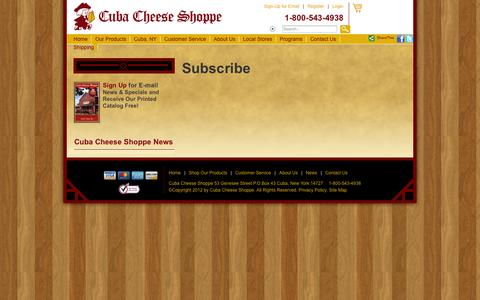 Screenshot of Signup Page cubacheese.com - Subscribe - captured Nov. 2, 2014