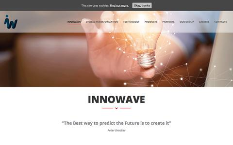 Screenshot of About Page innowave.tech - Our Mission, Values & Vision - About us - InnoWave - captured May 22, 2018