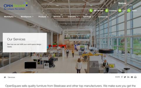 Screenshot of Services Page open-sq.com - Scope of Services - OpenSquare in the greater Seattle, WA area - captured Oct. 23, 2018