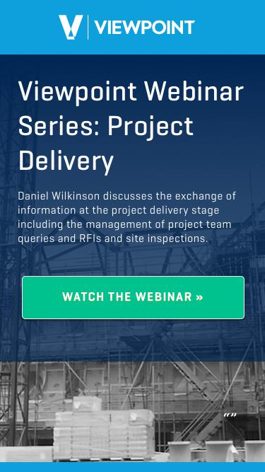 Viewpoint Webinar Series: Project Delivery