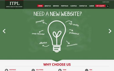 Screenshot of Home Page iknoortech.com - Web Design India, Website Designing Company, Web Design Delhi - captured Sept. 23, 2014