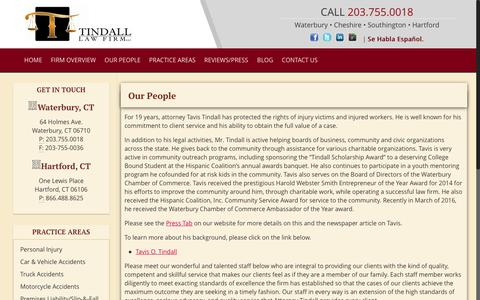 Screenshot of Team Page tindall-lawfirm.com - OUR PEOPLE – tindall-lawfirm.com - captured Dec. 19, 2016