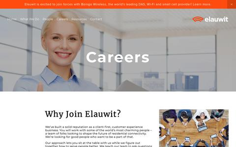 Screenshot of Jobs Page elauwit.com - Careers — Elauwit Networks - captured Feb. 27, 2019