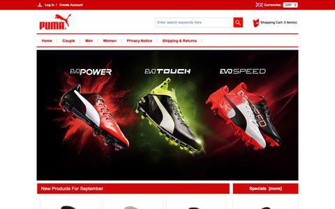 Screenshot of Home Page claveringandheaphy.co.uk - Cheap Puma Online Store | Puma UK Sale | Puma Outlet - captured Sept. 28, 2018